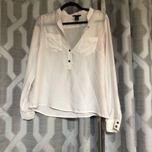 White satin blouse